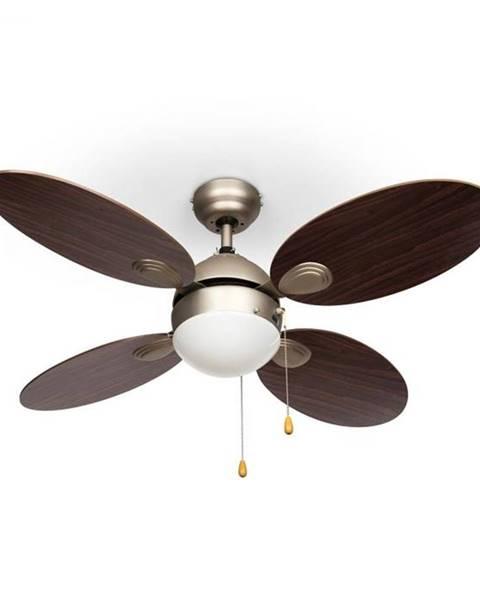 "Klarstein Klarstein Valderama, stropný ventilátor, 42"", 60 W, stropná lampa, 2 x 43 W, palisander"