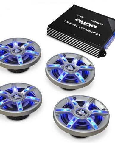 Auna Auto hi-fi setBeatPilot FX-401, reproduktory, zosilňovač