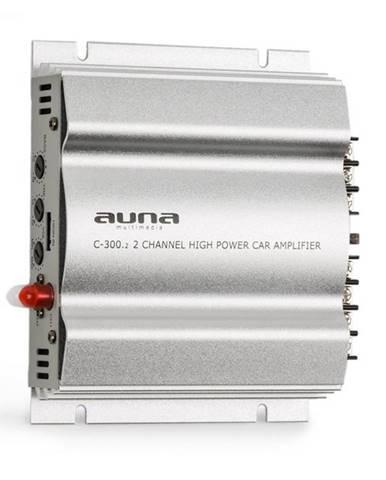 Auna C300.2, 2-kanálový zosilňovač, koncový zosilňovač do auta, 800W PMPO, 200W RMS, strieborný