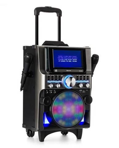 Auna Pro DisGo Box 360, BT karaoke systém, 2 mikrofóny, HDMI, BT, LED, USB, kolieska, čierny