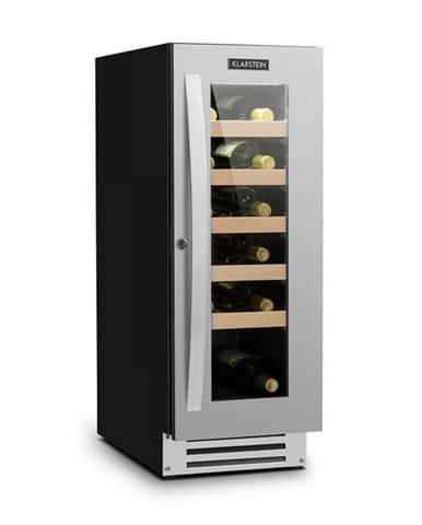 Klarstein Vinovilla Smart, vinotéka, chladnička, 50 l/20 fliaš, sklené dvierka, nerezová oceľ