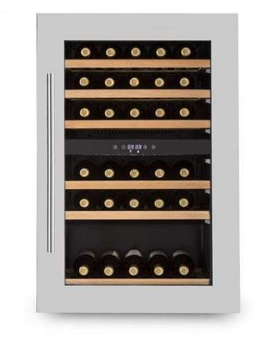 Klarstein Vinsider 35D, vstavaná chladnička na víno, 128 litrov, 41 fliaš na víno, 2 zóny