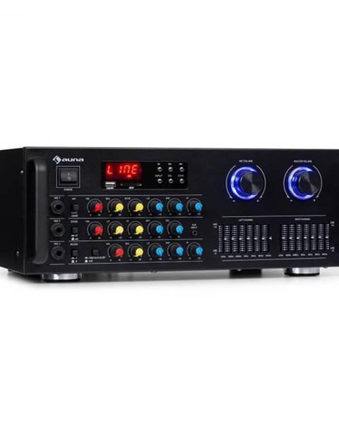 Auna Auna Pro Amp-Pro1 BT, PA zosilňovač, RMS 2 x 50 W, BT, USB, SD, 2-kanálový 7-pásmový ekvalizér