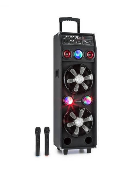 Auna Auna Pro DisGo Box 2100, PA systém, 100 W RMS, BT, SD slot, LED diódy, USB, akumulátor, čierny