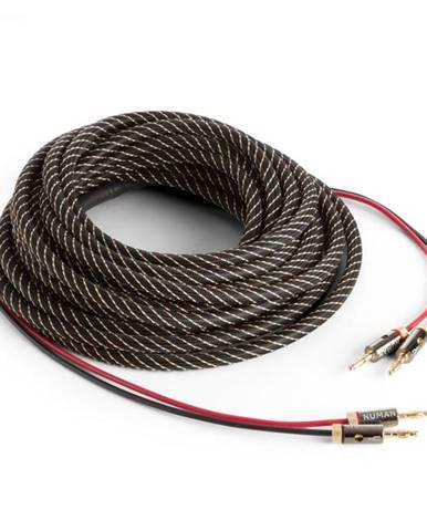 Numan reproduktorový kábel, OFC, medený, 2 x 3,5 mm², 10 m, textilný obal, štandardizovaný