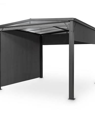 Blumfeldt Pantheon Cortina Solid Sky, pergola, prístrešok, 3x3m, polykarbonát, sivá