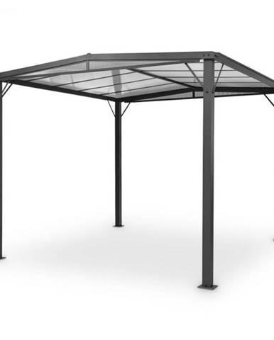 Blumfeldt Pantheon Solid Sky Flat, pergola, prístrešok, 3x3m, polykarbonát, sivá