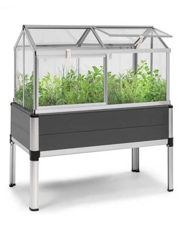 Blumfeldt Novagrow Advanced, skleník, 113,5 x 129 x 60,5 cm, 166 l, UV ochrana, sivý