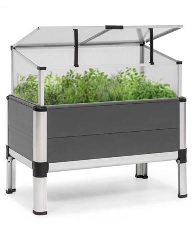 Blumfeldt Novagrow Advanced, skleník, 78,5 x 75,5 x 47 cm, 86 l, UV ochrana, sivý