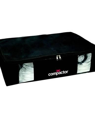 Čierny úložný box s vákuovým obalom Compactor Black Edition, objem 145 l