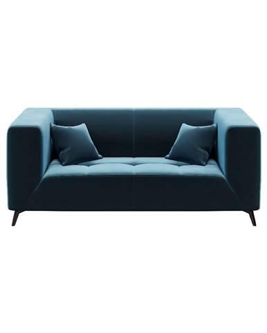 Modrá zamatová pohovka MESONICA Toro, 187 cm