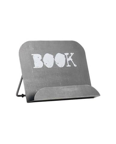 Sivý kovový stojan na knižku LABEL51