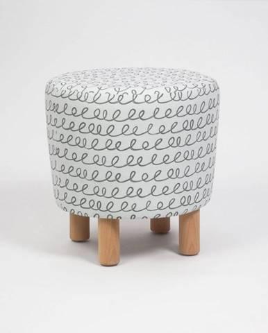 Taburet s drevenými nohami Cono Sway, ⌀ 41 cm
