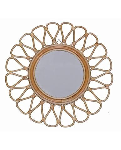 Ratanové nástenné zrkadlo WOOX LIVING Ratta