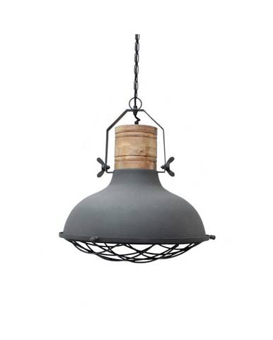 Sivé stropné svietidlo LABEL51 Grid, ⌀ 34 cm