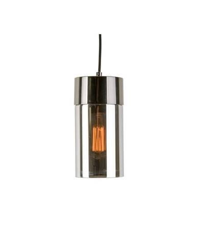 Závesné svietidlo v metalickysivej farbe so zrkadlovým leskom Leitmotiv Lax