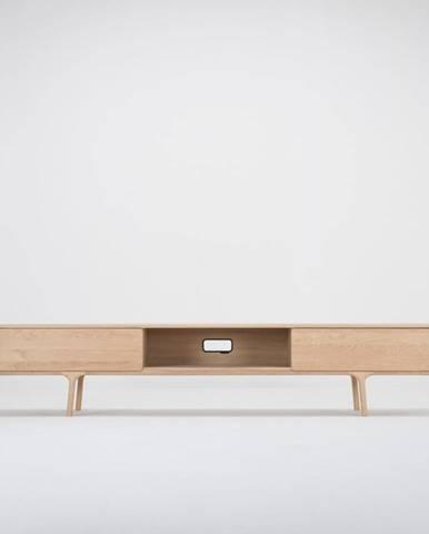 TV komoda z masívneho dubového dreva s 2 zásuvkami Gazzda Fawn