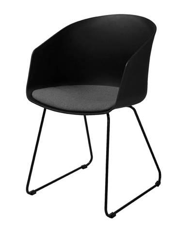 Čierna jedálenská stolička Interstil Moon 40