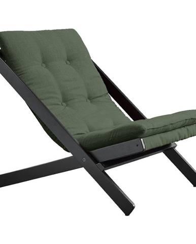 Olivovozelené skladacie kreslo z bukového dreva Karup Design Boogie Black/Olive Green