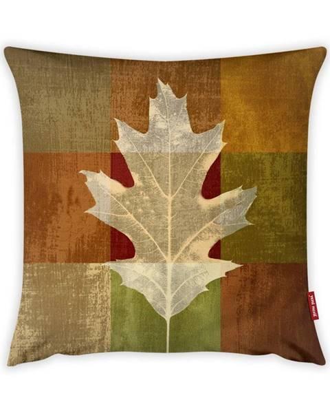 Vitaus Obliečka na vankúš Vitaus Autumn Parade Leafe, 43×43 cm
