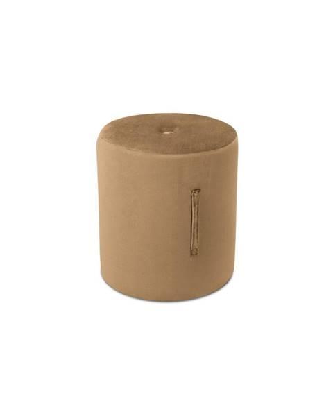 Mazzini Sofas Svetlohnedý puf Mazzini Sofas Fiore, ⌀ 40 cm