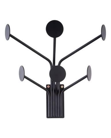Čierny nástenný vešiak na kabáty Leitmotiv Dots