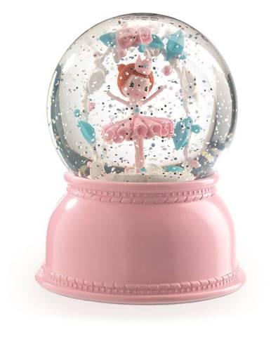 Ružové nočné svietidlo Djeco Balerina
