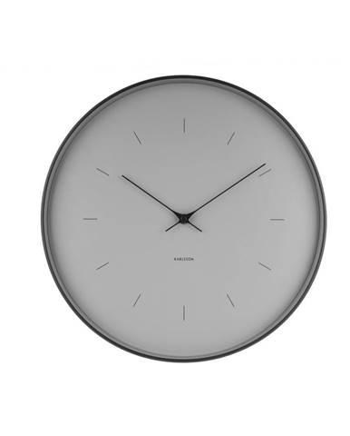 Sivé nástenné hodiny Karlsson Butterfly, ⌀ 37,5 cm