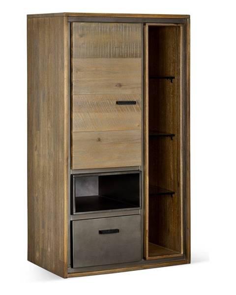 Furnhouse Nástenná skrinka z akáciového dreva FurnhoMalaga Duo