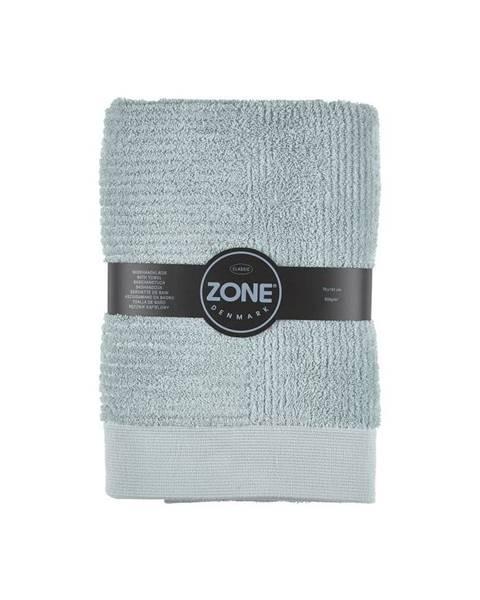 Zone Sivozelená osuška Zone Classic, 70x140cm