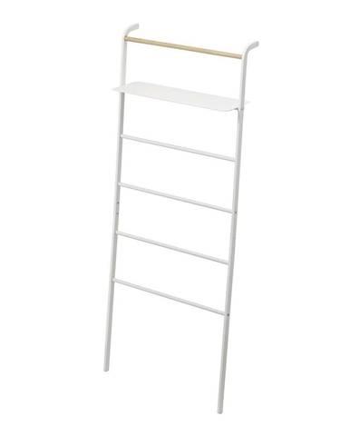 Biely vešiak s poličkou YAMAZAKI Tower Ladder