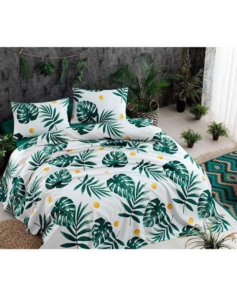 EnLora Home Ľahká prešívaná prikrývka cez posteľ Ramido Jungle, 140×200 cm