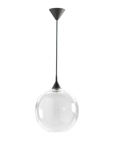Biele závesné svietidlo z recyklovaného skla Surdic, Ø 33 cm