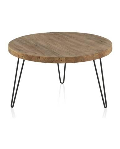 Konferenčný stolík s doskou z brestového dreva Geese Camile, ⌀71 cm