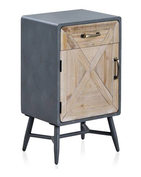 Geese Nočný stolík so sivými detailmi Geese Rustico Duro