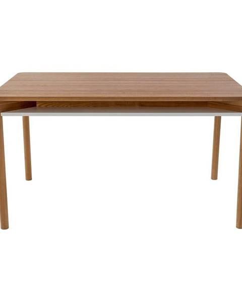 Ragaba Hnedý jedálenský stôl z dubového dreva Ragaba Zeen