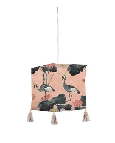 Textilné závesné svietidlo Madre Selva Flores y Gruas