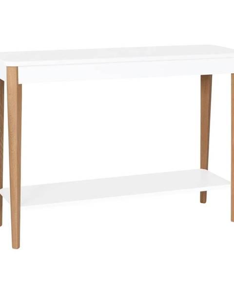 Ragaba Biely konzolový stolík Ragaba Ashme, šírka 105 cm