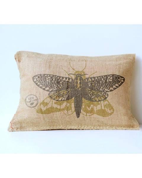 Surdic Obliečka na vankúš z juty Surdic Yute Moth, 50×35 cm