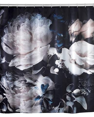 Prateľný sprchový záves Wenko Peony, 180 x 200 cm
