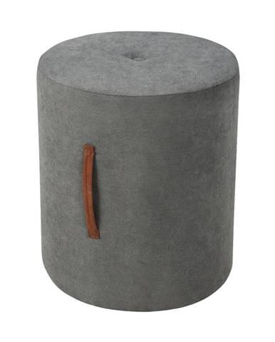 Tmavosivý puf Kooko Home Motion, ø40cm