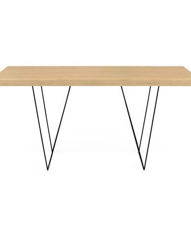 Stôl s čiernymi nohami TemaHome Multi, 160 × 77 cm