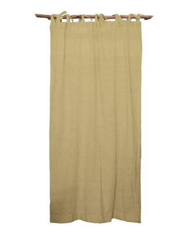 Béžový záves Linen Couture Cuture Cortina Hogar Beige
