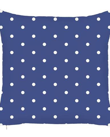 Modrá obliečka na vankúš Mike&Co.NEWYORK Little Dots, 43 × 43 cm