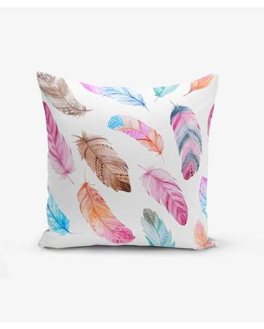 Obliečka na vankúš Minimalist Cushion Covers Colorful Bird Pendants, 45 × 45 cm