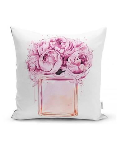 Obliečka na vankúš Minimalist Cushion Covers Pink Flowers, 45 x 45 cm