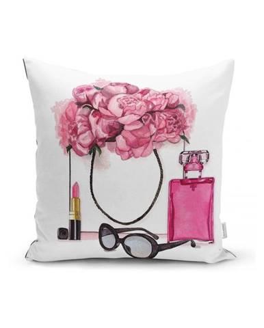 Obliečka na vankúš Minimalist Cushion Covers Pink Flowers and Perfume, 45x45cm