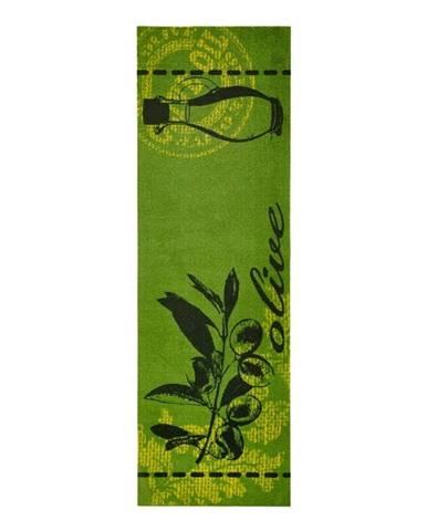 Zelený kuchynský behúň Zala Living Olive, 50×150cm