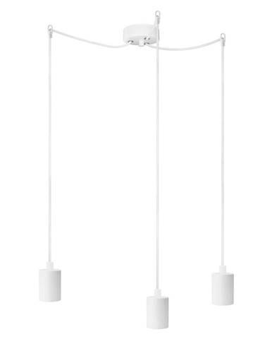 Biele trojramenné závesné svietidlo Bulb Attack Cero Basic