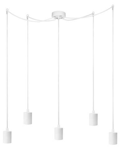 Biele päťramenné závesné svietidlo Bulb Attack Cero Basic